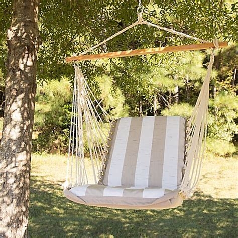 pawleys island hammock swing pawleys island cushioned hammock swing in taupe bed bath