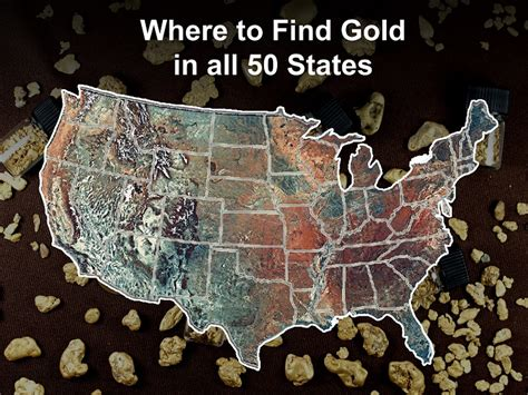 Find In Usa Gold Prospecting In The Usa Where To Find Gold In All 50 States Raregoldnuggets