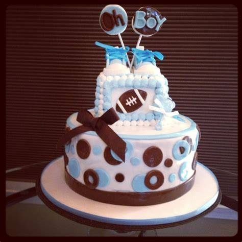 Sports Theme Baby Shower Cake by Baby Shower Sports Themed Cake Cakecentral