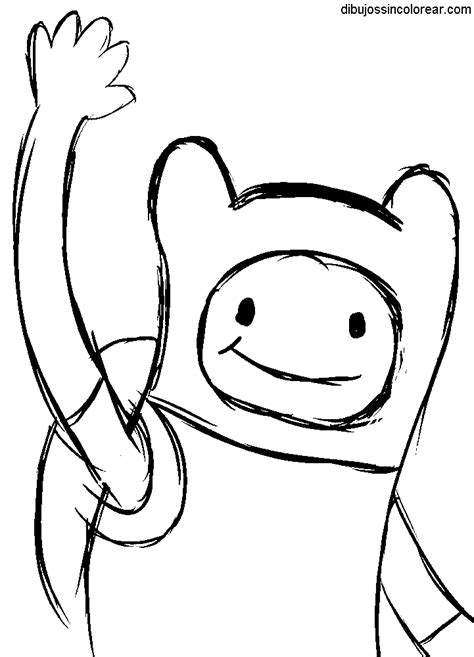 imagenes faciles para dibujar de hora de aventura dibujos de finn hora de aventuras para colorear