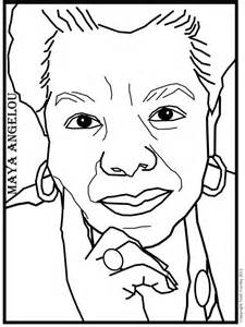 coloring sheets of maya angelou coloring pages