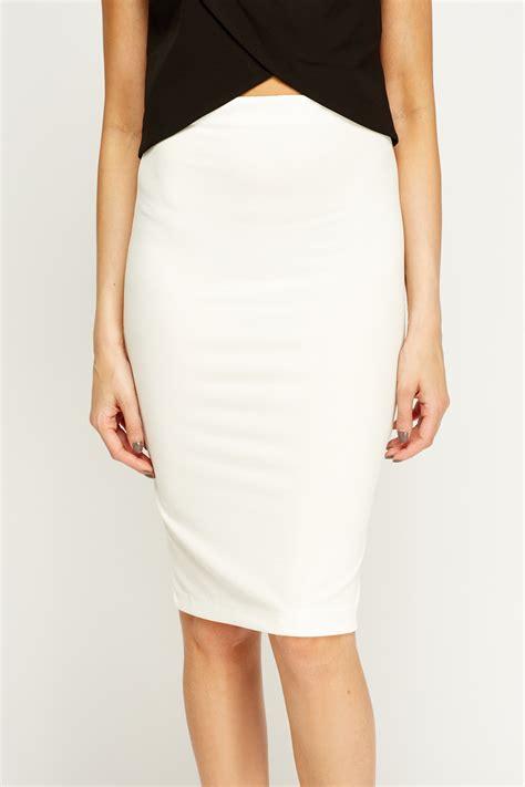 white midi pencil skirt just 163 5