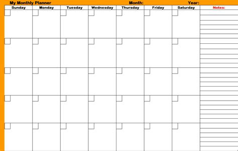 free printable monthly planner template printable monthly planners and organizers calendar