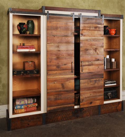 recycled barn doors sliding barn door wall unit evolutions