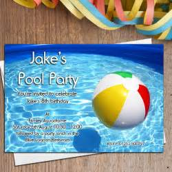 10 personalised boys swimming pool birthday invitations invites n17 ebay