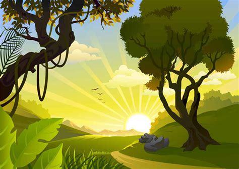 wallpaper cartoon landscape preview cartoon landscape vector background