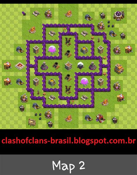 layout de cv 7 centro da vila 7 farm layout clash of clans dicas