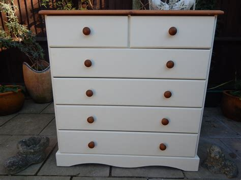 gorgeous shabby chic pine chest of sold