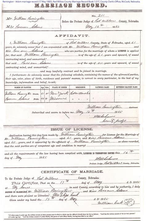 Nebraska Marriage Records Stafford