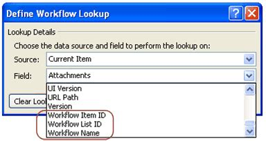 define workflow lookup create a secondary workflow sharepoint