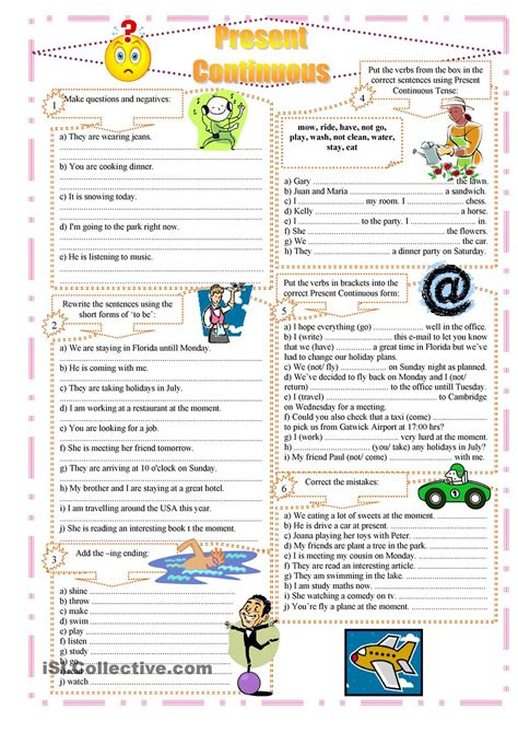 lesson 2 2 5 tenses and 5 forms of the verb purland training present continuous exercises englishtenses pinterest
