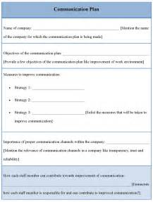 Communication Profile Template by Communication Plan Company Communication Plan Template
