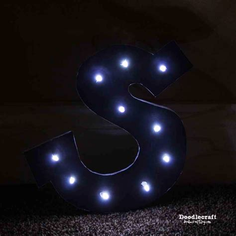 led marquee light bulbs doodlecraft monogram marquee sign