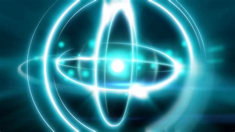 Proton Atom by Abstract Atomic Animation Sphere Shape Light Atom With