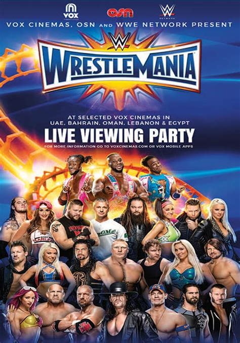 Wwe Wrestlemania 33 Kickoff 2017 2 Wrestlemania 33 Live Event 2017 Now Showing Book Tickets Vox Cinemas Uae