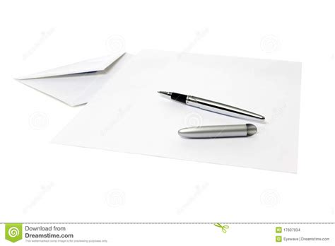 Pen Paper Royal Envelope envelope sheet of paper ballpoint pen stock images image 17607934