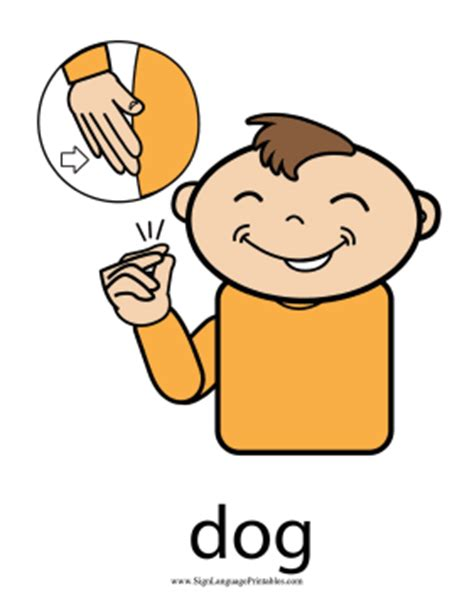 puppy in sign language baby sign language quot quot sign color