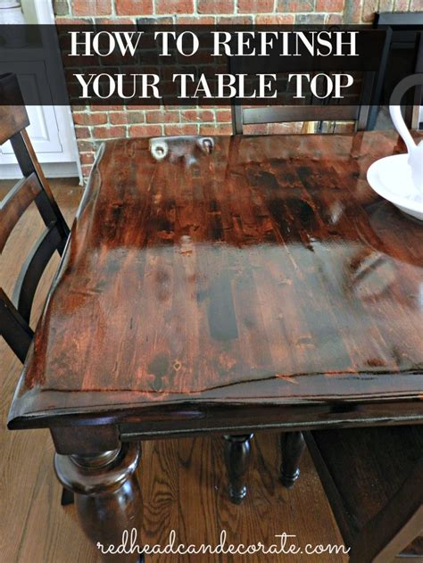 diy refinished dining table can decorate