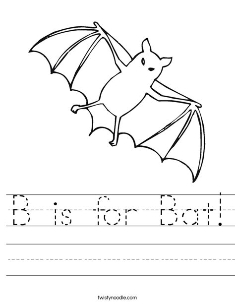 bat coloring pages preschool b is for bat worksheet twisty noodle