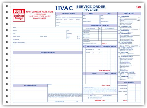 hvac template business forms for hvac contractors