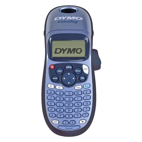 tag maker dymo letratag 100h handheld label maker blue officeworks