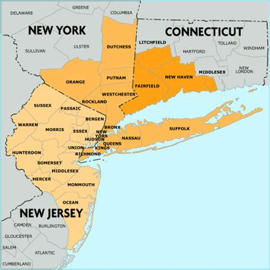 Map Of New York And New Jersey new york map new jersey