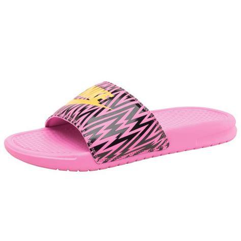 womens nike slide sandals nike womens benassi jdi slide sandals violet citron black