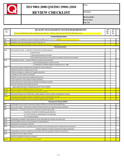Cklt 9001 29001 Manufacturing Contract Review Template