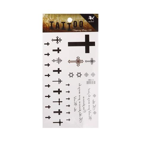 temporary cross wing stickers beckham fresh cross wings tattoos removable temporary