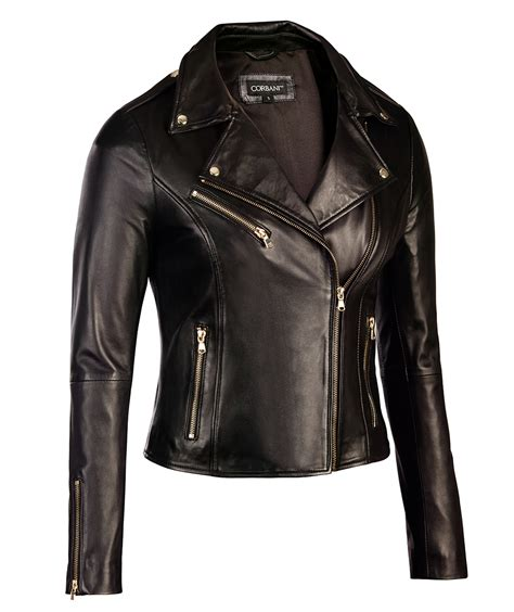 leather biker jacket womens black leather biker jacket gold hardware genuine