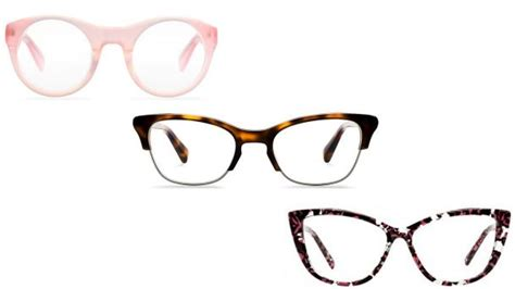 different types of fashionable spectacle frames for glasses