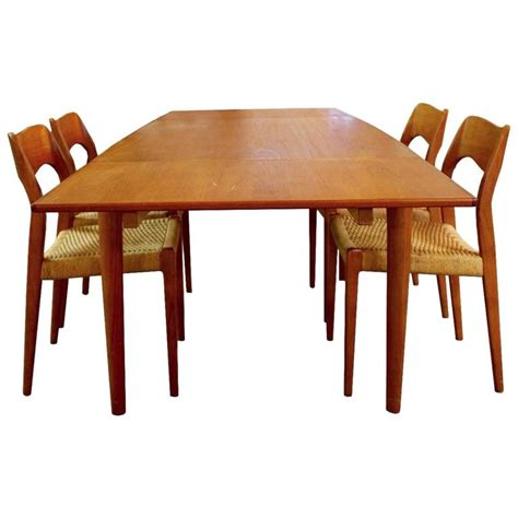 expandable dining room sets mid century modern danish teak niels moller expandable