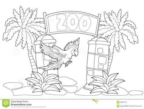 coloring book illustrator coloring page the zoo illustration for the children