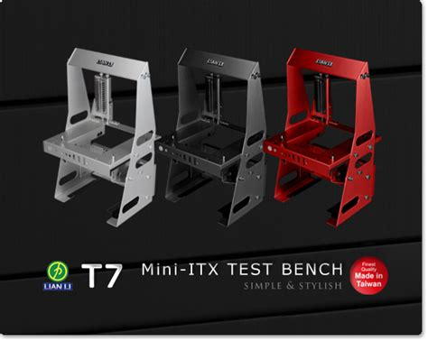 lian li t60 test bench lian li launches pc t60 pc t7 test benches