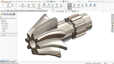 solidworks tutorial helical gear solidworks tutorial how to make helical bevel gear in