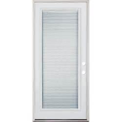 Ready Made Window Blinds - 32 quot full lite mini blind prehung exterior steel door unit left hand surplus warehouse