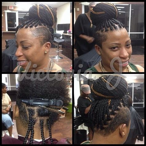 shave mohawk with braid 18 best box braids with shaved sides images on pinterest