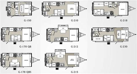 small house trailer floor plans palomino gazelle travel