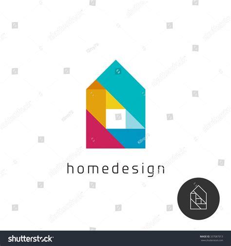 design concept elements house design concept colorful rainbow geometric stock