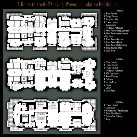 wayne manor floor plan wayne foundation penthouse by roysovitch on deviantart