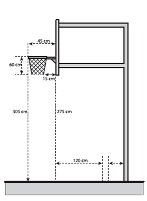 Jual Cara Membuat Tiang Basket by Gambar Dan Ukuran Lapangan Bola Basket Standart Fiba Dan