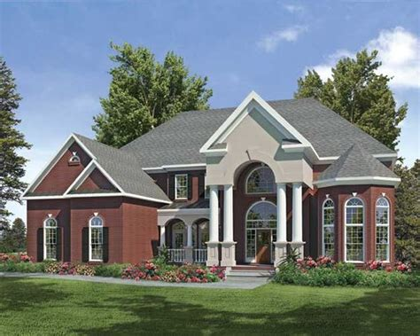 Grand Columns Give Sophistication To This Large Southern Southern Style House Plans With Columns