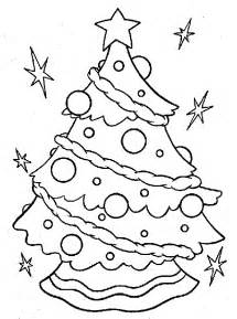 christmas tree coloring pages coloringpages1001