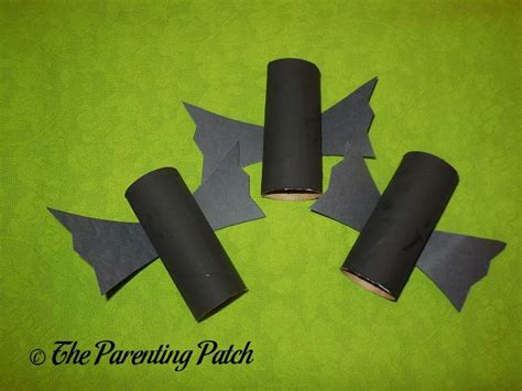 black craft paper roll black bat toilet paper roll craft parenting patch