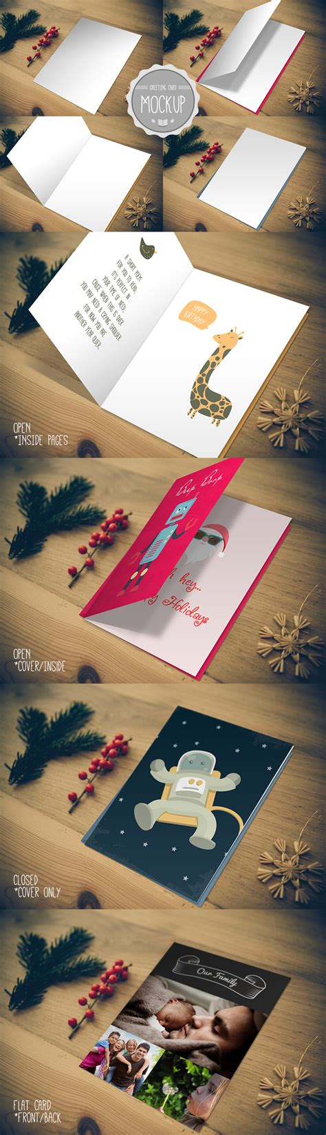 Photoshop Greeting Card Template Psd by Greeting Card Mockup Photoshop Psd Template On Behance