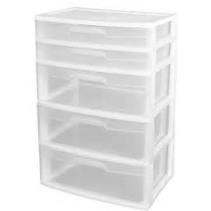 sterilite 5 drawer wide tower white walmart