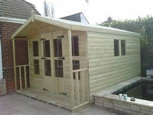 tanalised shed summerhouse 10x10 2ft porch 19mm t g 4