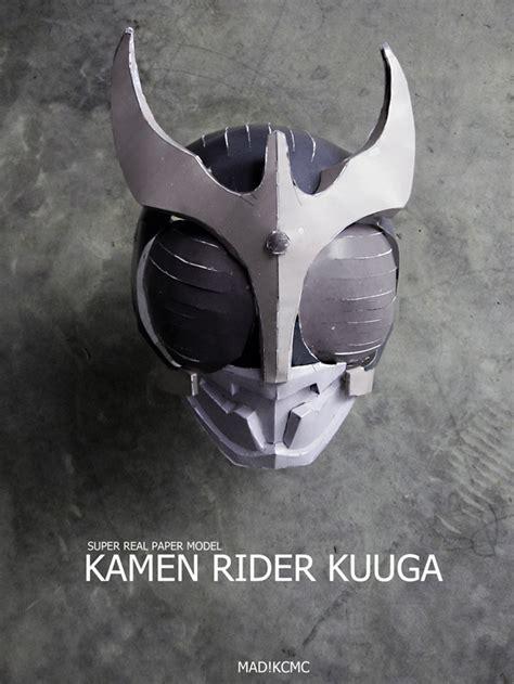 Kamen Rider Helmet Papercraft - paper model kamen rider kuuga helmet by madkcmc on deviantart