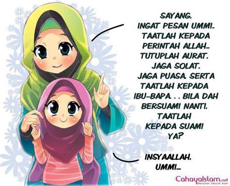 anime islami gambar kartun muslimah