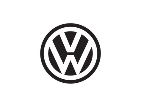 first volkswagen logo on circular logos logo design love